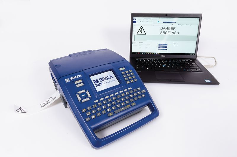 Kit labelprinter BMP71 met ontwerpsoftware