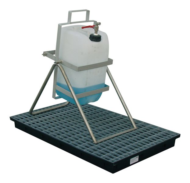 Onderstel in roestvrij staal - voor bidons van 30 l of 60 l