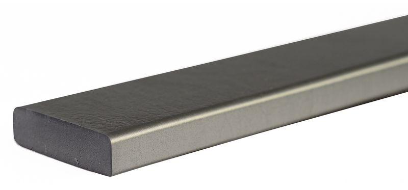 Eenkleurige, platte stootrand voor muur Opticoc, oppervlak van 75 mm
