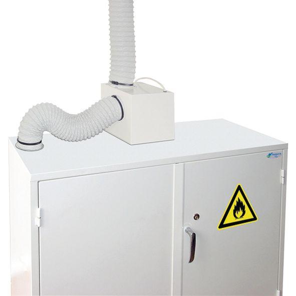 Ventilatiesysteem voor veiligheidskast waarin gevaarlijke producten bewaard worden (97 W)