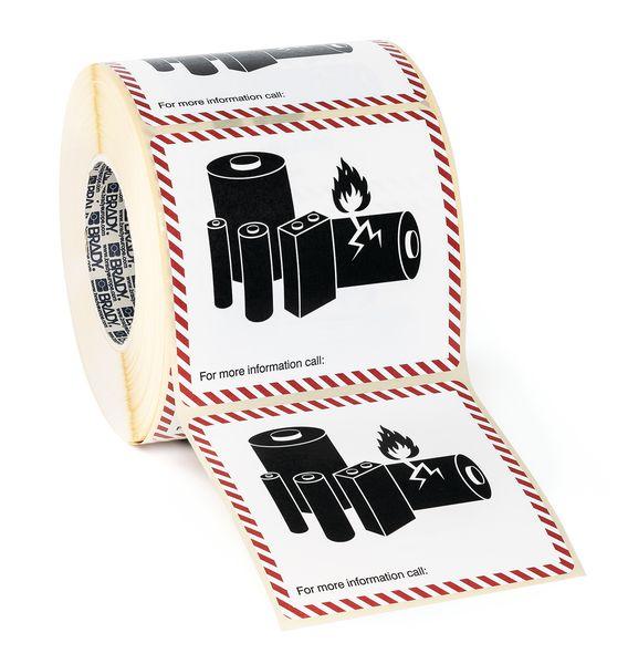 Etiketten voor verpakkingen met lithiumbatterijen