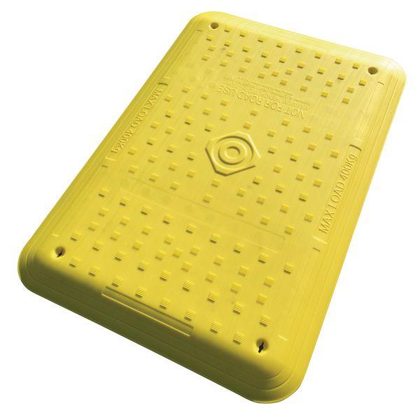 Gele loopplank met of zonder antisliprand voor werf