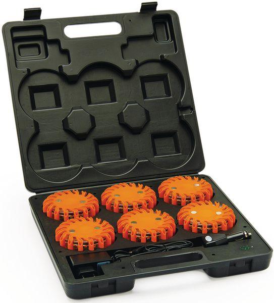 Set van 6 magnetische lichtbakens voor de signalisatie van wegen