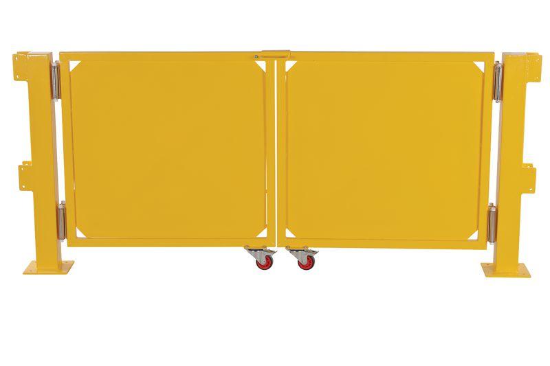 Dubbele klapdeur voor modulaire veiligheidsrailing
