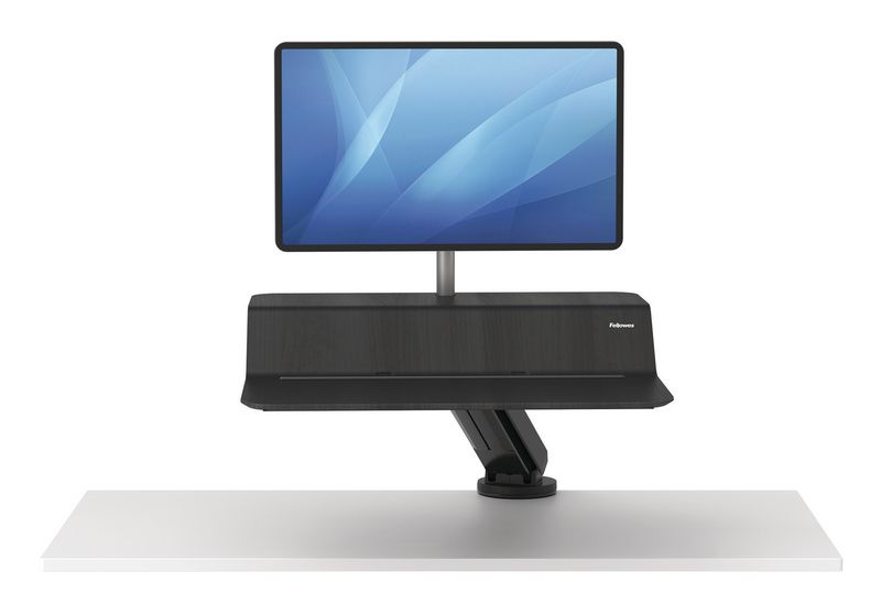 Verstelbaar zit-sta platform met scherm(en)