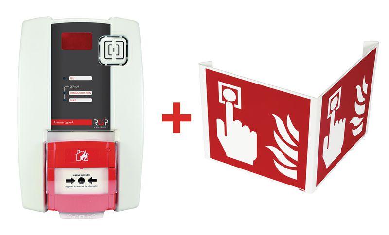 Brandalarm type 4 met handbrandmelder, met groot bereik