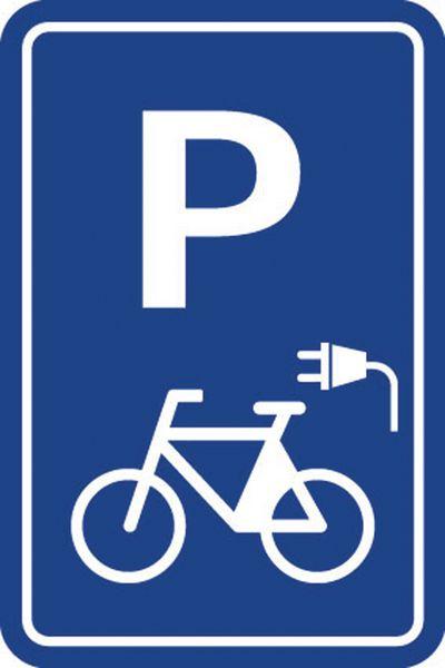 """Parkeerbord """"elektrische fiets"""""""