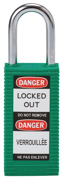 Hangslot voor lockout met lange behuizing