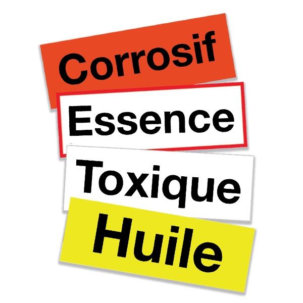 Personaliseerbare etiketten om gevaarlijke stoffen te identificeren