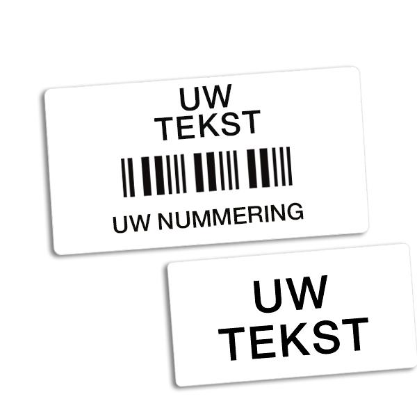 Etiketten met barcode en sterke kleeflaag