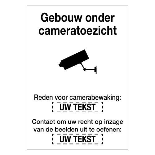 Personaliseerbaar bord camerabewaking