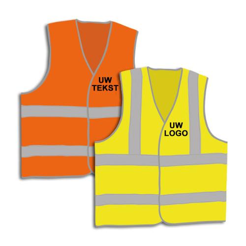 Personaliseerbare, fluorescerende veiligheidshesjes met reflecterende stroken