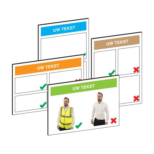 Personaliseerbaar informatiebord -of sticker voor Do's & Don'ts
