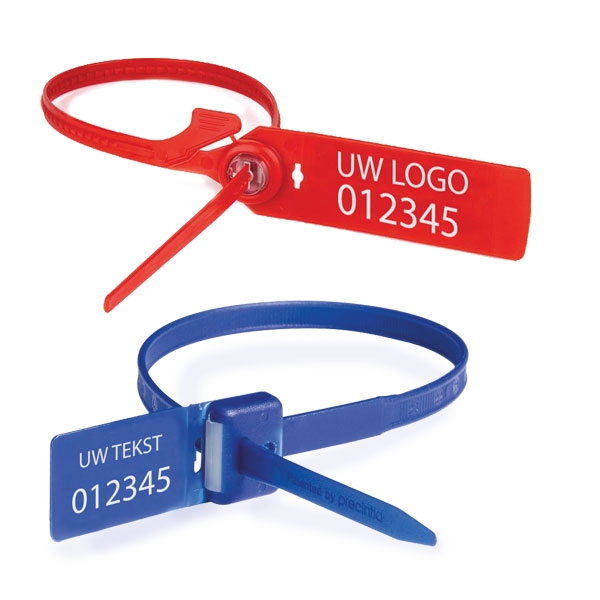 Personaliseerbare aantrekverzegelingen van plastic met gemiddelde tot hoge weerstand - Way Lok of Cashbag SP