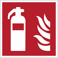 Brandveiligheidsborden en -stickers ISO 7010 brandblusapparaat