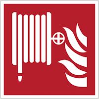 Brandveiligheidsborden en -stickers ISO 7010 brandhaspel