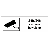 Borden en stickers 24u camerabewaking