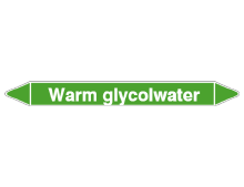 CLP leidingmerkers warm glycolwater