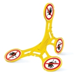 Roterend signaleringsbord – Verboden toegang voor onbevoegden