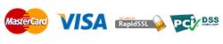 Betaling : MasterCard & VISA beveiligd door RapidSSL