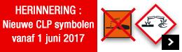 Nieuwe CLP symbolen vanaf 1 juni 2017