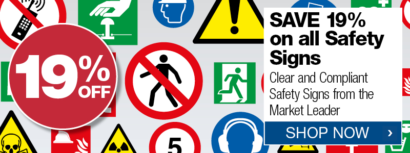 19% off all safety signs