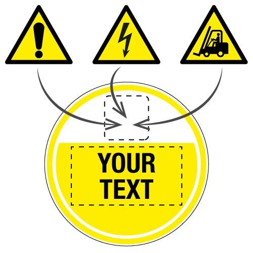 Custom Anti-Slip Hazard Warning Floor Signs