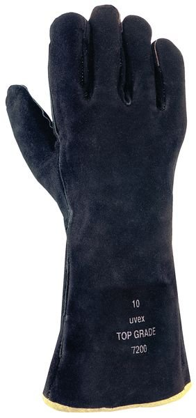 Uvex Top Grade 7200 Black Heat-Resistant Welding Gloves