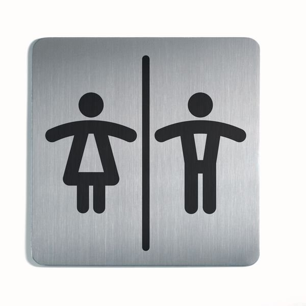 Unisex Toilets Picto Square Sign