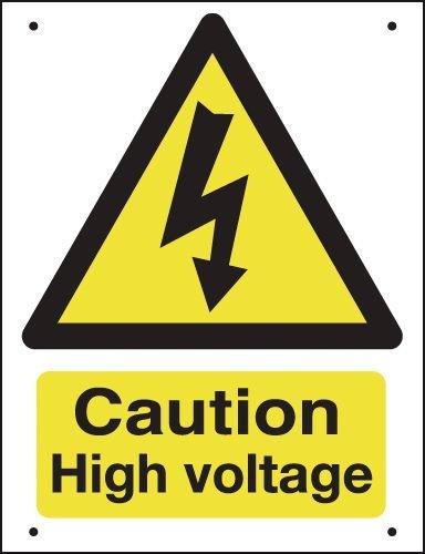 Caution High Voltage - Vandal-Resistant Sign