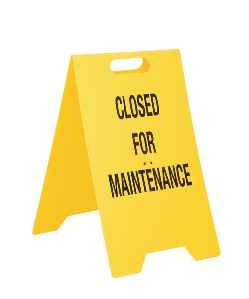 Double-Sided Heavy-Duty Floor Stands - Closed For Maintenance