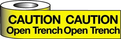 Barrier Warning Tapes - Caution Open Trench