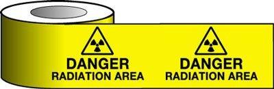 Barrier Warning Tapes - Danger Radiation Area