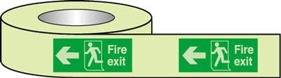 BS Fire Exit Tape - Left