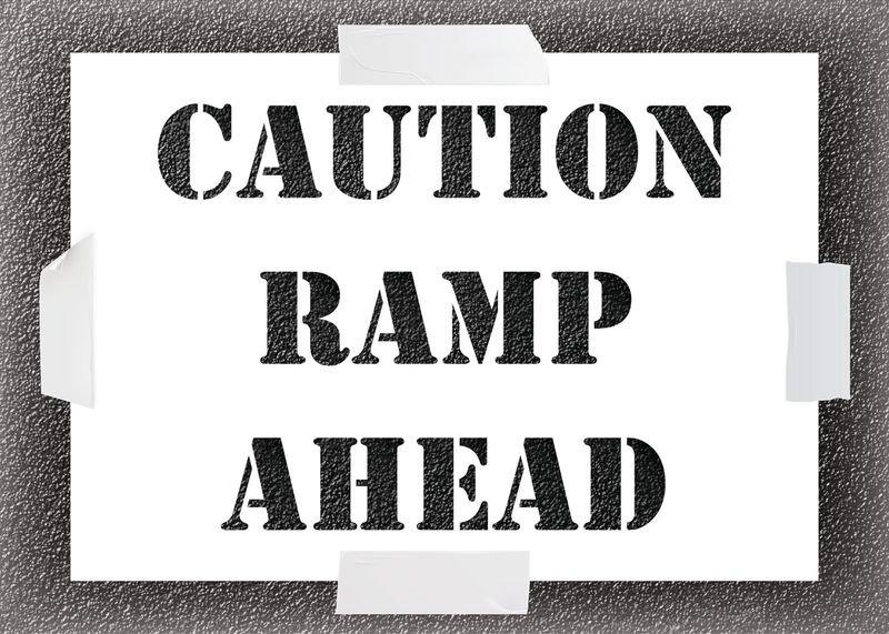 Caution Ramp Stencil Kit