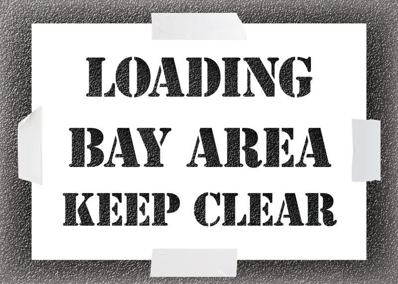 Reusable Stencil - Loading Bay Area Keep Clear