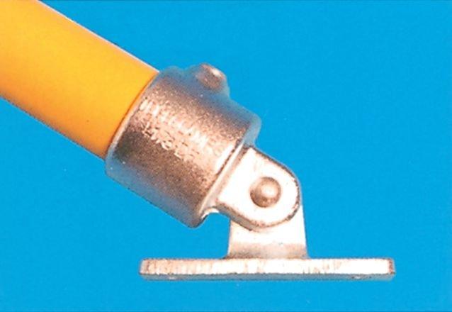 Modular Barrier - Swivel Base Galvanised Clamp