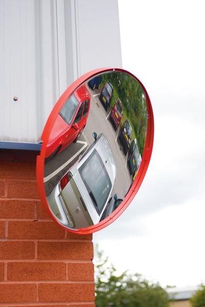 Circular Traffic Mirrors - Red Framed