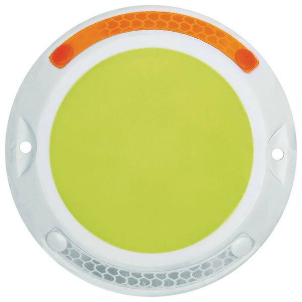 Photoluminescent Retro-Reflective Drive Lane Circle Markers