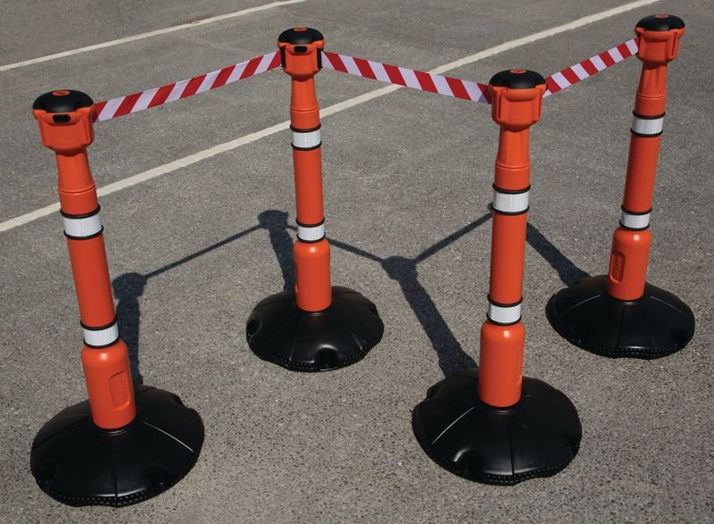 Skipper™ Retractable Barrier and Cone Kits - Skipper™ Posts