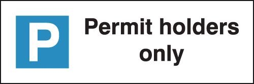 Permit Holder - Parking Bay Signs