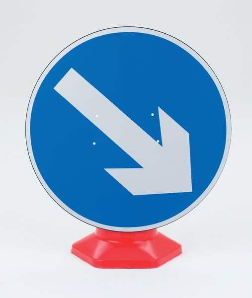 Keep Right Traffic Cone Sign
