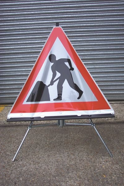 Stands for Class 1 Reflective Roll-Up Traffic Sign