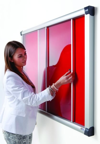 Fire Resistant Showcase with Sliding Doors