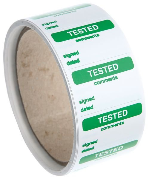 Tested/Comments/ Signed/ Dated Quality Control Labels
