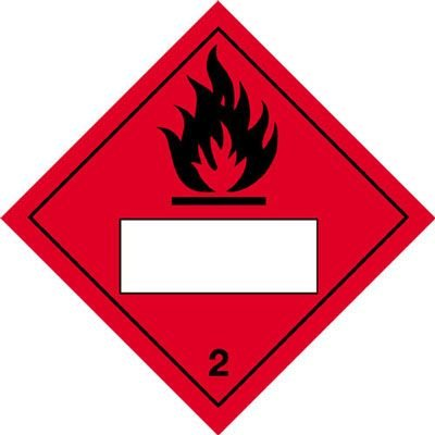 Flammable & 2 - Hazard Warning Diamond Placards