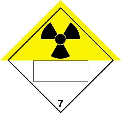 Radioactive & 7 - Hazard Warning Diamond Placards