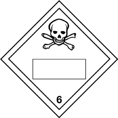 Toxic & 6 - Hazard Warning Diamond Placards