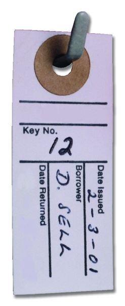 Key Tag Location Cards