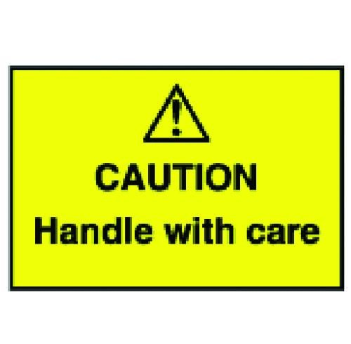 Caution Handle With Care Warning Labels